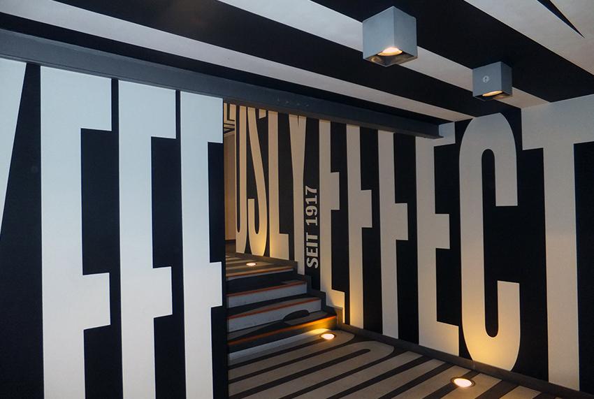 Werbeagentur Grey, Wall, Ceiling, Floor Tattoos